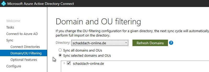 Domain and OE filtering